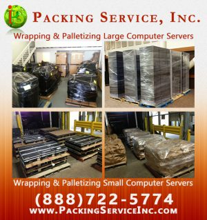 On-Site Shrink Wrap Palletizing boxes, furniture and machinery with Packing Service, Inc. - 721.jpg